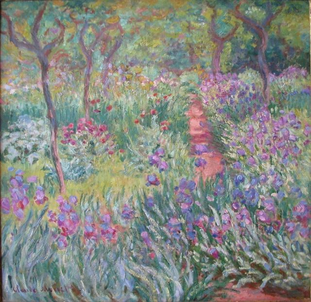 JARDIN Monet Giverny 1900