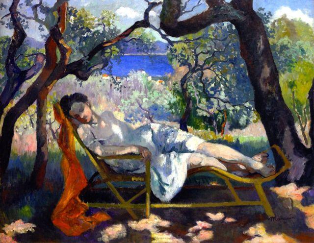 MANGUIN 1905 la sieste dans le fauteuil