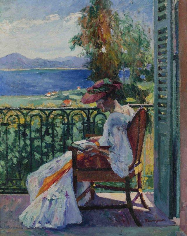 MANGUIN Henri Manguin Jeanne sur le balcon de la villa Demiäre 1905