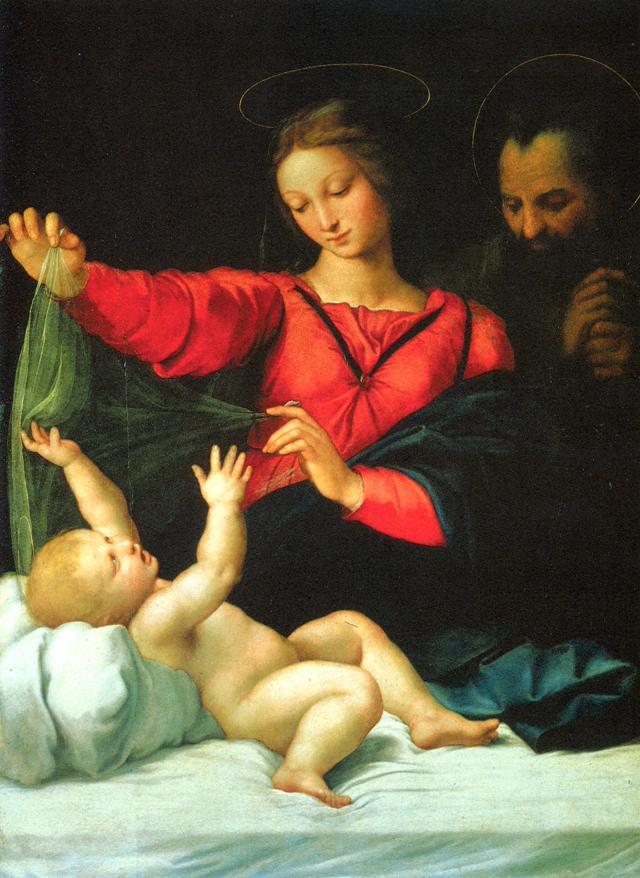 RAPHAEL La vierge de Lorette Musée Condé