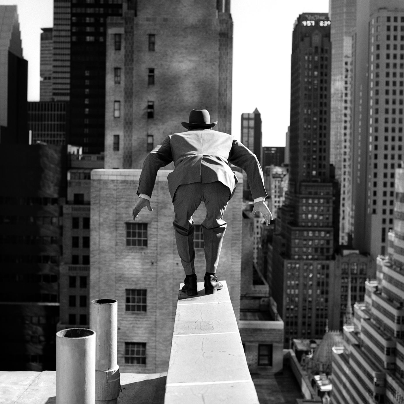 RODNEY SMITH Alan Leaping From 515 Madison Avenue 1999 New York