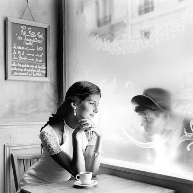 RODNEY SMITH Mira Looking through window at Paris 2001