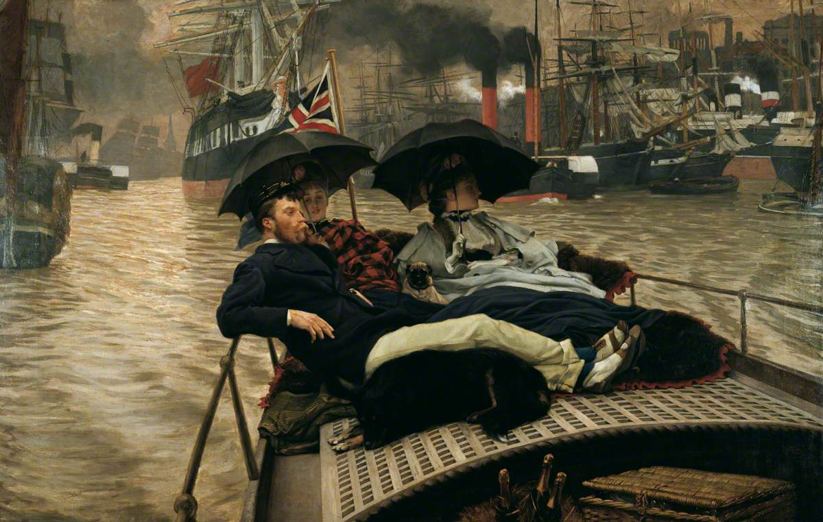 Tissot, James, 1836-1902; On the Thames (How Happy I Could Be with Either?)