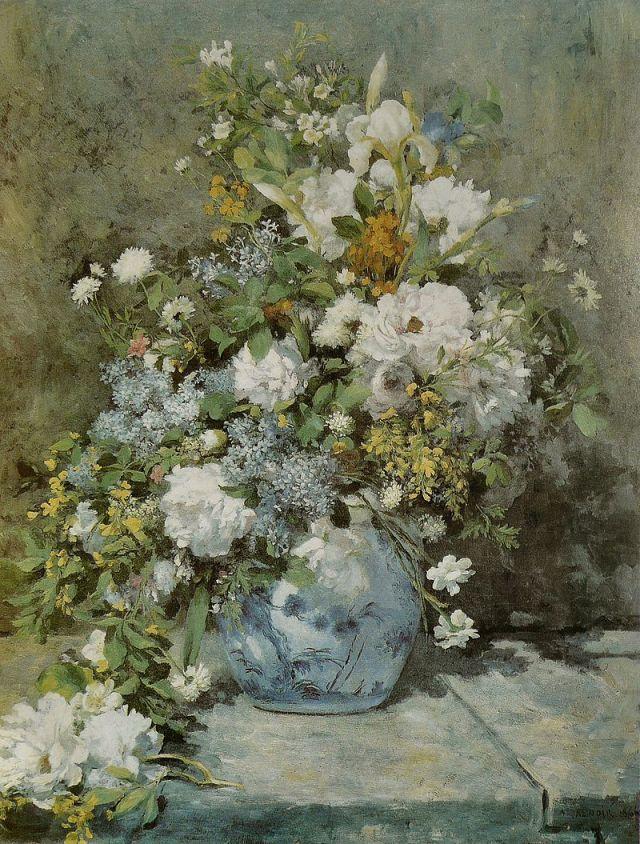 RENOIR 1866 Bouquet printanier