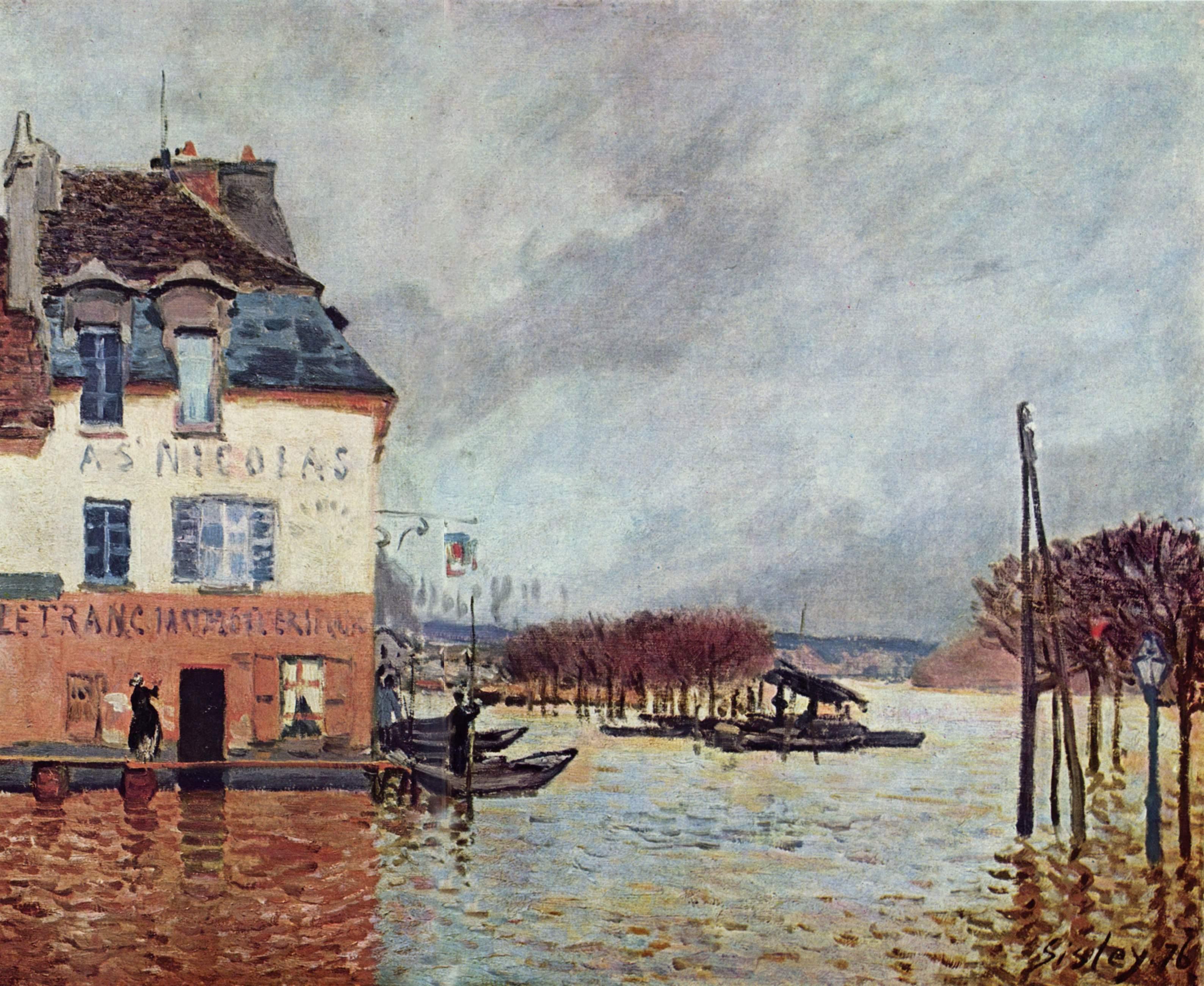 ROUEN La barque Alfred SISLEY