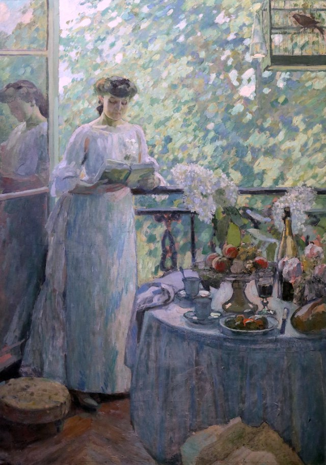 ROUEN La dame au balcon Henri OTTMANN