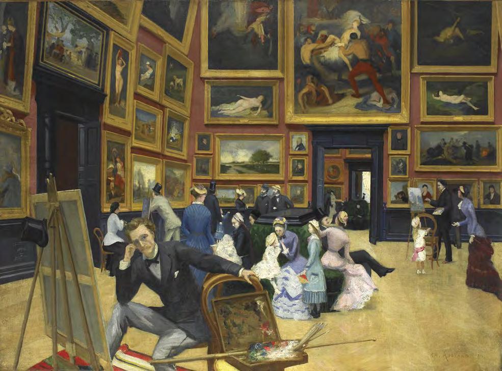 ROUEN Vue intérieure du musée Charles ANGRAND