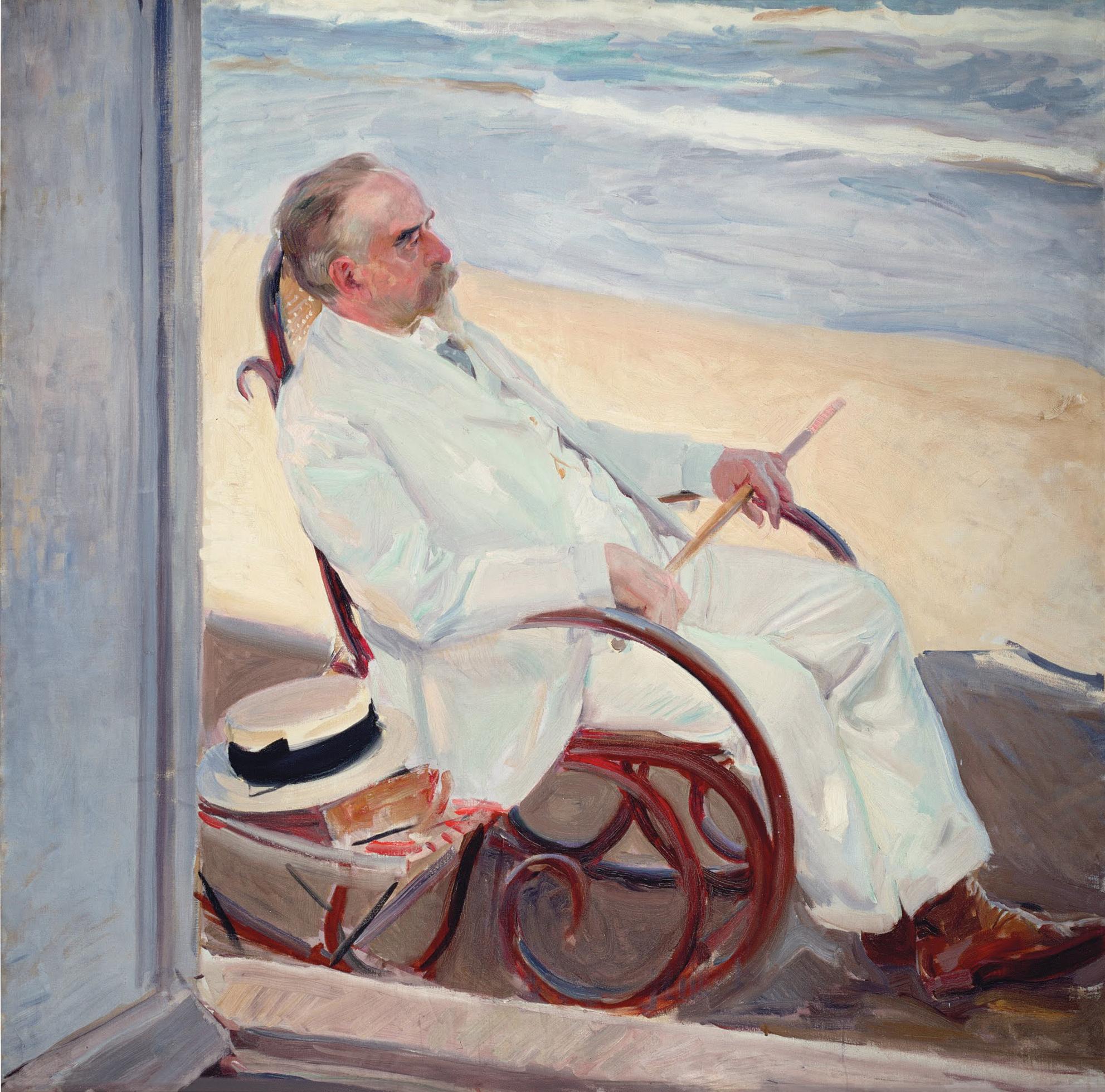 SOROLLA Antonio Garcia Paris son beau père Musée Sorolla