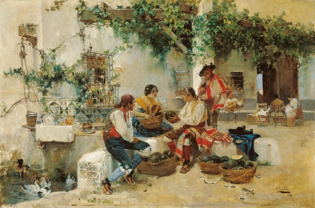 SOROLLA la vente des melons Museo Carmen Thyssen Málaga.