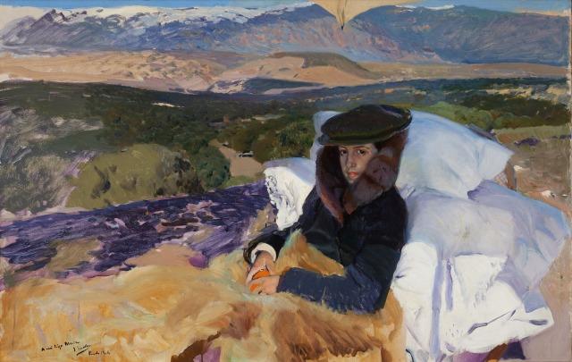 SOROLLA Maria convalescente au prado collection particulière