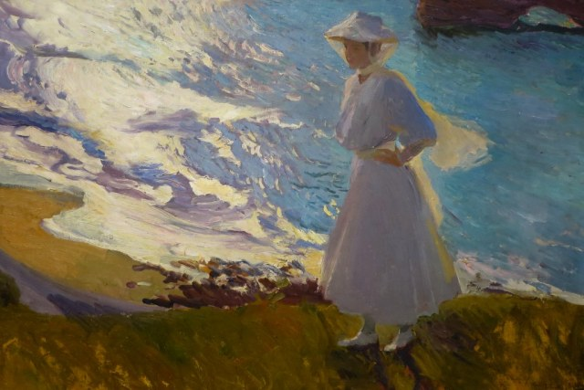 SOROLLA maria sur la plage à Biarritz musée Sorolla